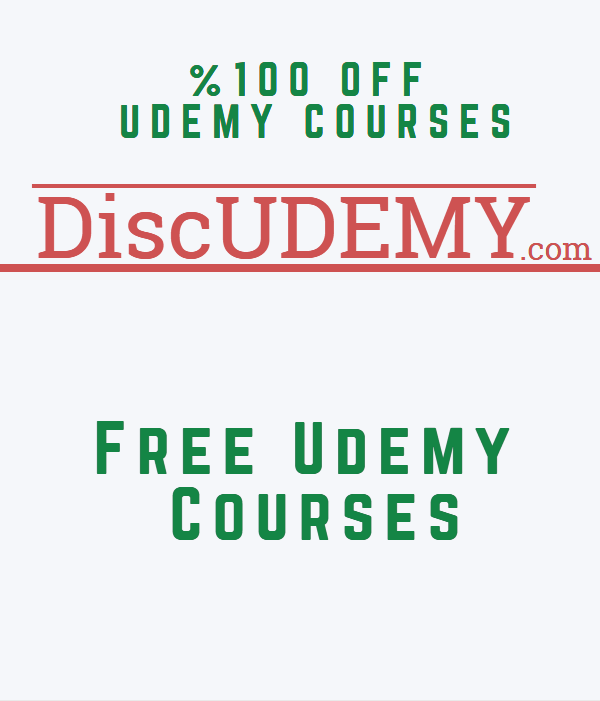 Free Udemy Courses - DiscUdemy - 100% OFF Udemy Coupons - Page 1